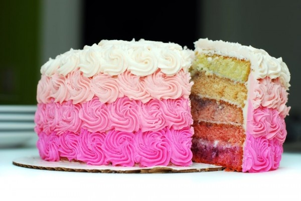 pink #ombre cake!