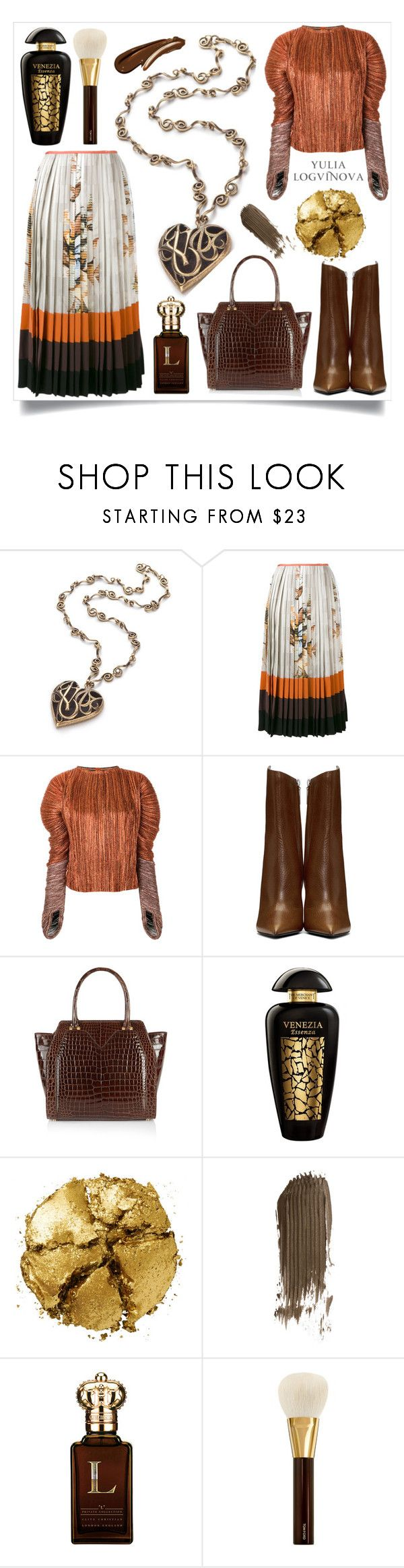 Jewelry by Yulia Logvinova @okatava by okatava on Polyvore featuring мода, Haider Ackermann, Fendi, Yves Saint Laurent, Rubeus, Pat McGrath, Tom Ford, The Merchant Of Venice and Clive Christian