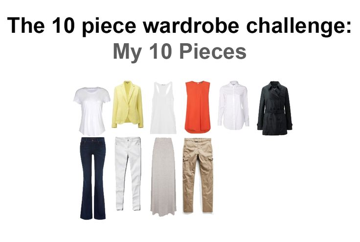 The ultimate capsule wardrobe: 10 pieces of clothing for one month's wearing!? Yes, it can be done - these 10 pieces combine to make 48 seperate outfits!