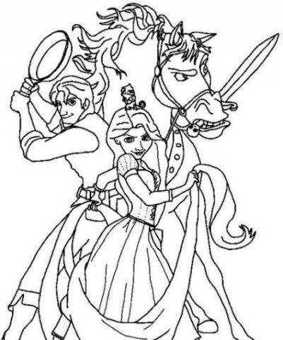 Coloring Pages Rapunzel Tangled Princess Sheet To Print Of