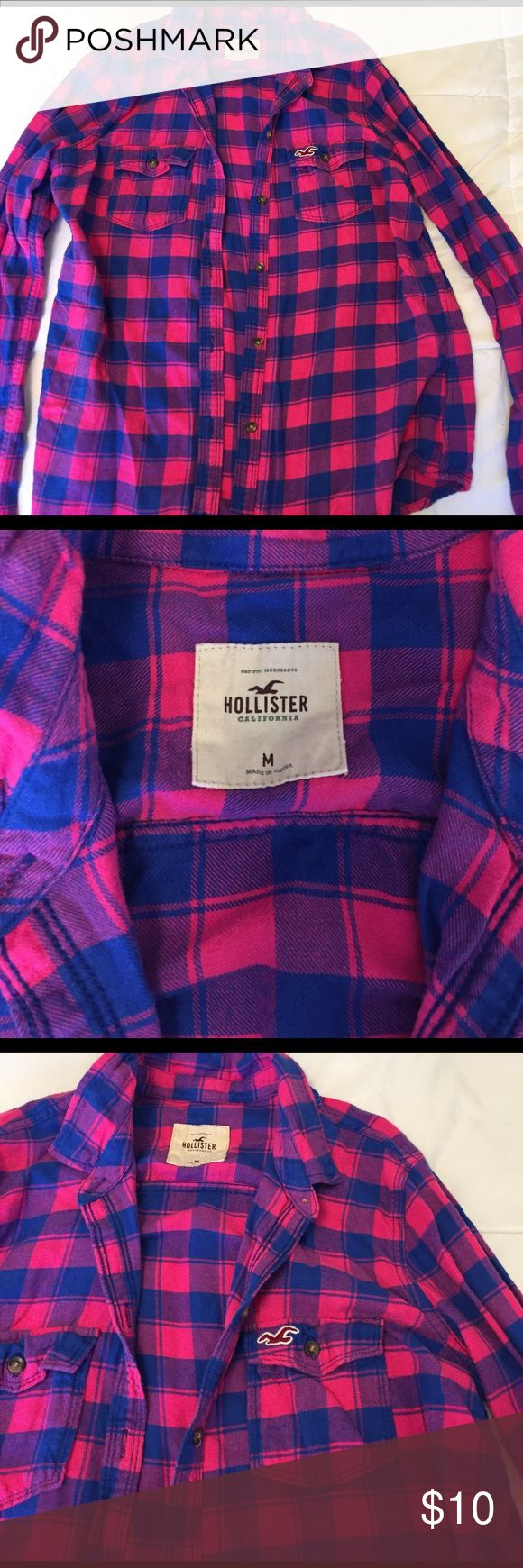 HOLLISTER FLANNEL- LIKE NEW! This flannel from Hollister looks brand new! It is in great condition and the colors are as bright as ever! Hollister Tops Button Down Shirts