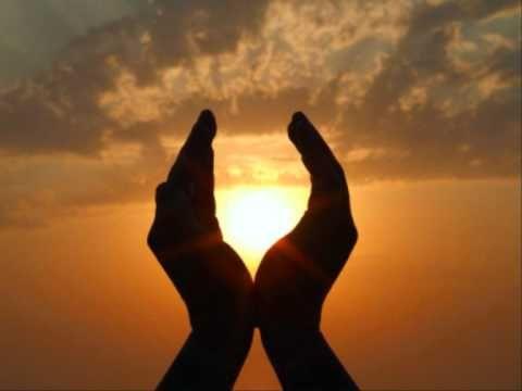 Ontspannende meditatie. Alles in zonlicht zetten.