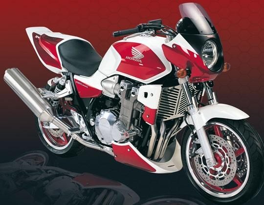 CarpiMoto - Powerbronze Rad Spoiler kit Honda CB 1300 black plastic