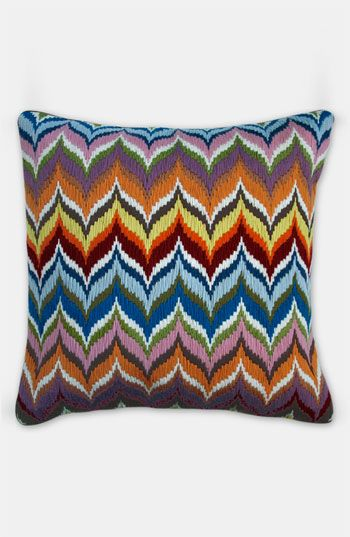 "As Martha would have said, bargello is ""a good thing"". Jonathan Adler 'Flame Bargello' Pillow"