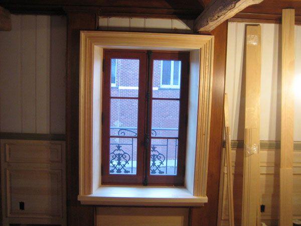 46-Comment fait-on la finition d'une embrasure de fenêtre à l'intérieur.