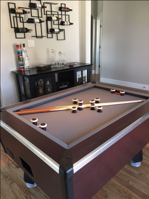 customer Great American home bumper pool table in Dallas, TX