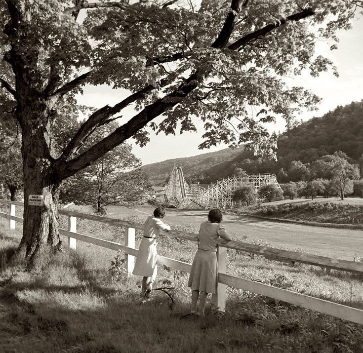 May 1942. Amusement park outside Southington, Connecticut. Medium-format nitrate negative by Fenno Jacobs, Farm Security Administration.