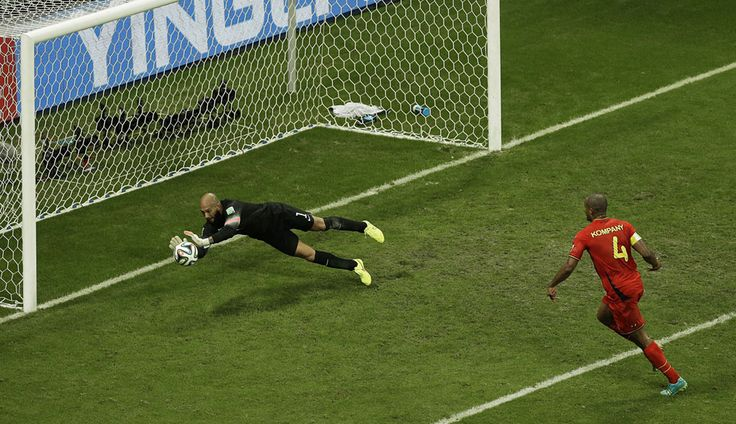 The 2014 World Cup, Part II - In Focus - The Atlantic Tim Howard making a save during the match against Belgium.
