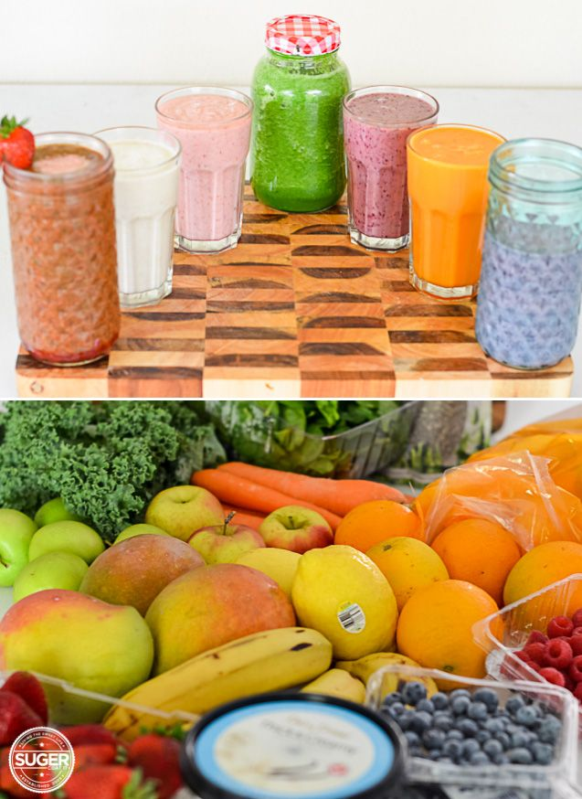 The Juice + Smoothie Rainbow #smoothie #juice #health #fruit #vegetables #blog #recipe