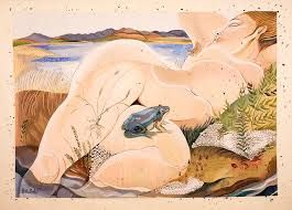 pauline bewick - woman and frog