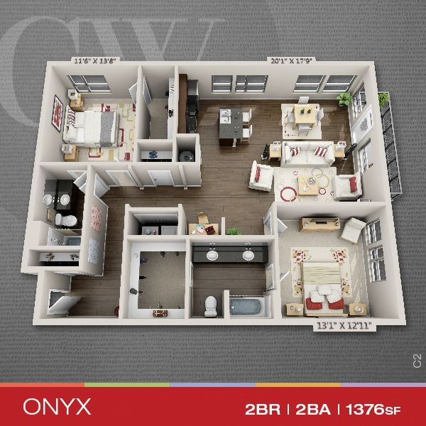 Floor Plans Of 1, 2 U0026 3 Bedroom Apartments In Indianapolis, IN | The