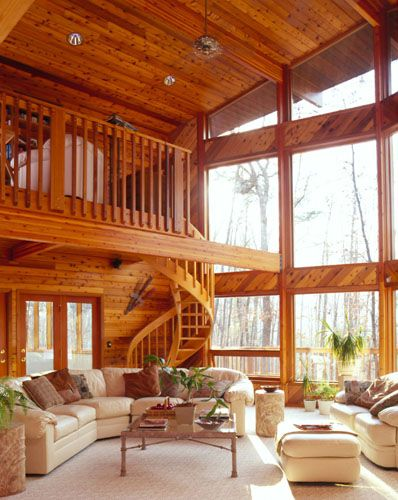 26 best images about homes on pinterest for Log cabin sunroom additions