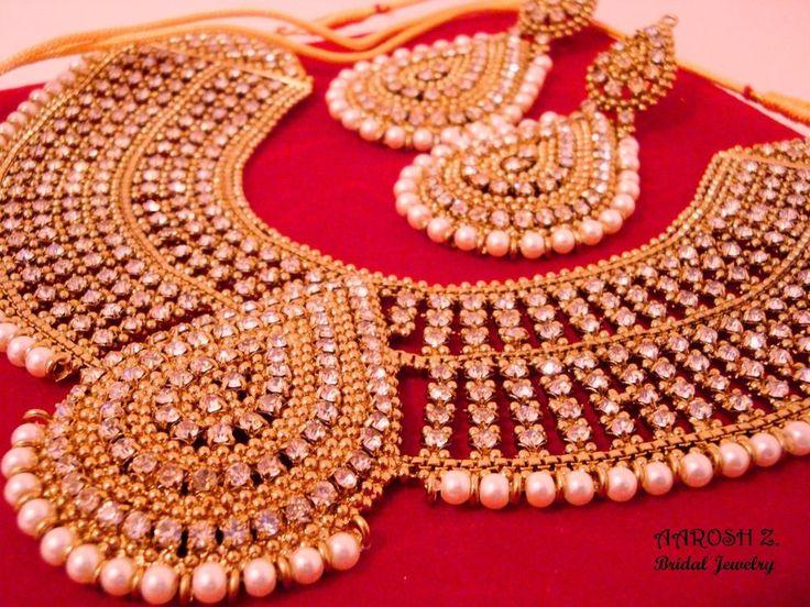 Bollywood Fashion Ethnic Wedding Bridal 5 PCS Indian Stone Necklace Jewelry Set