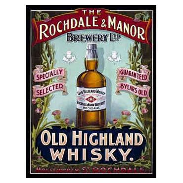 Rochdale & Manor Highland Whisky Metal Sign