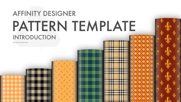 Affinity Designer Pattern Template - FREEBIE DOWNLOAD