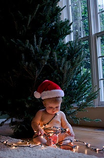 how to take pictures with christmas lights and kids