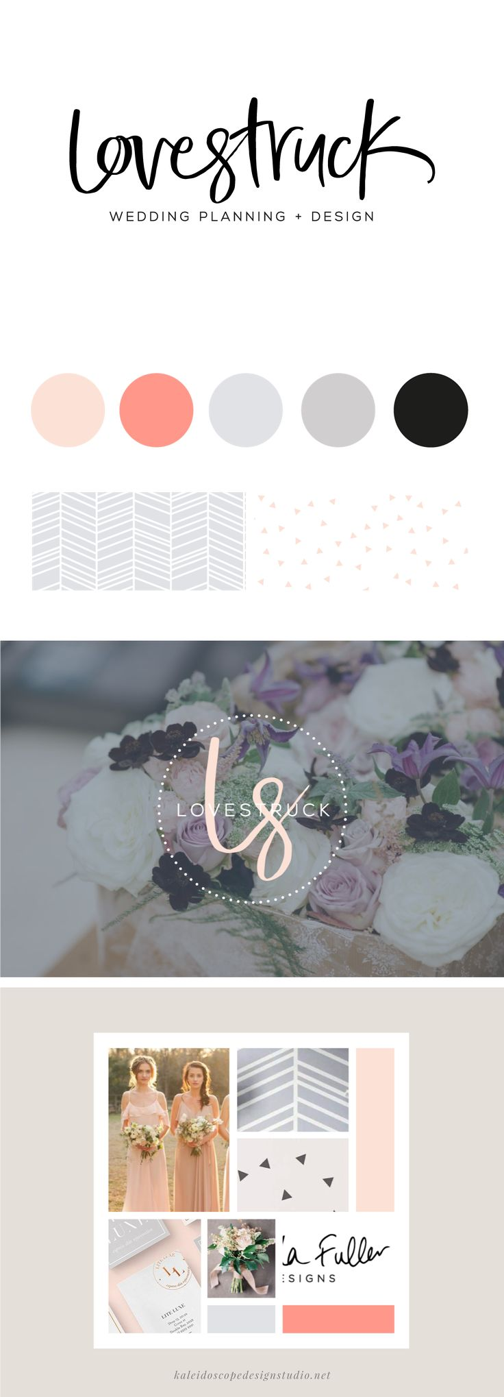 Lovestruck Wedding Planning and Design Brand Styling - Kaleidoscope Design Studio