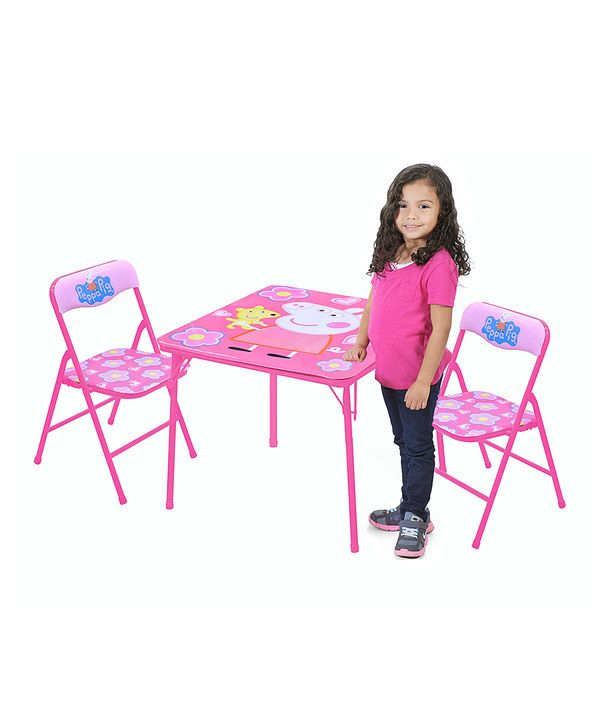 Look at this Three-Piece Peppa Pig Chair & Table Set on #zulily today!