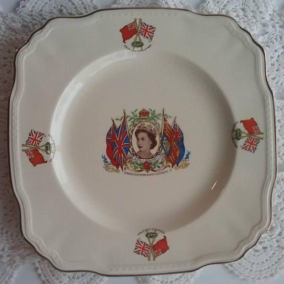 Vintage Queen Elizabeth II Plate Coronation Plate Alfred