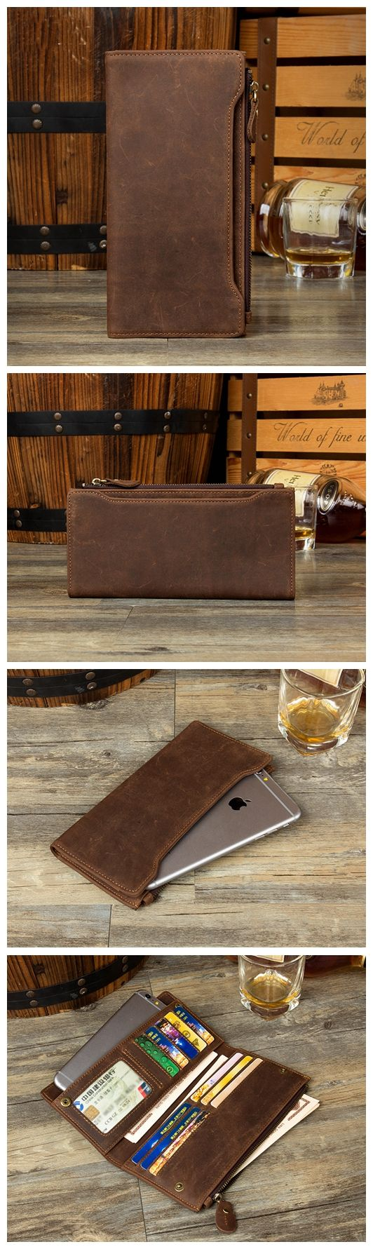 LONG LEATHER WALLET, CLASSIC BIFOLD WALLET, LEATHER WALLET, PERSONALIZED WALLET, AWESOME GIFT MS002