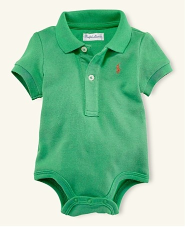 If I have baby boy someday he will wear a baby polo so he matches his father.