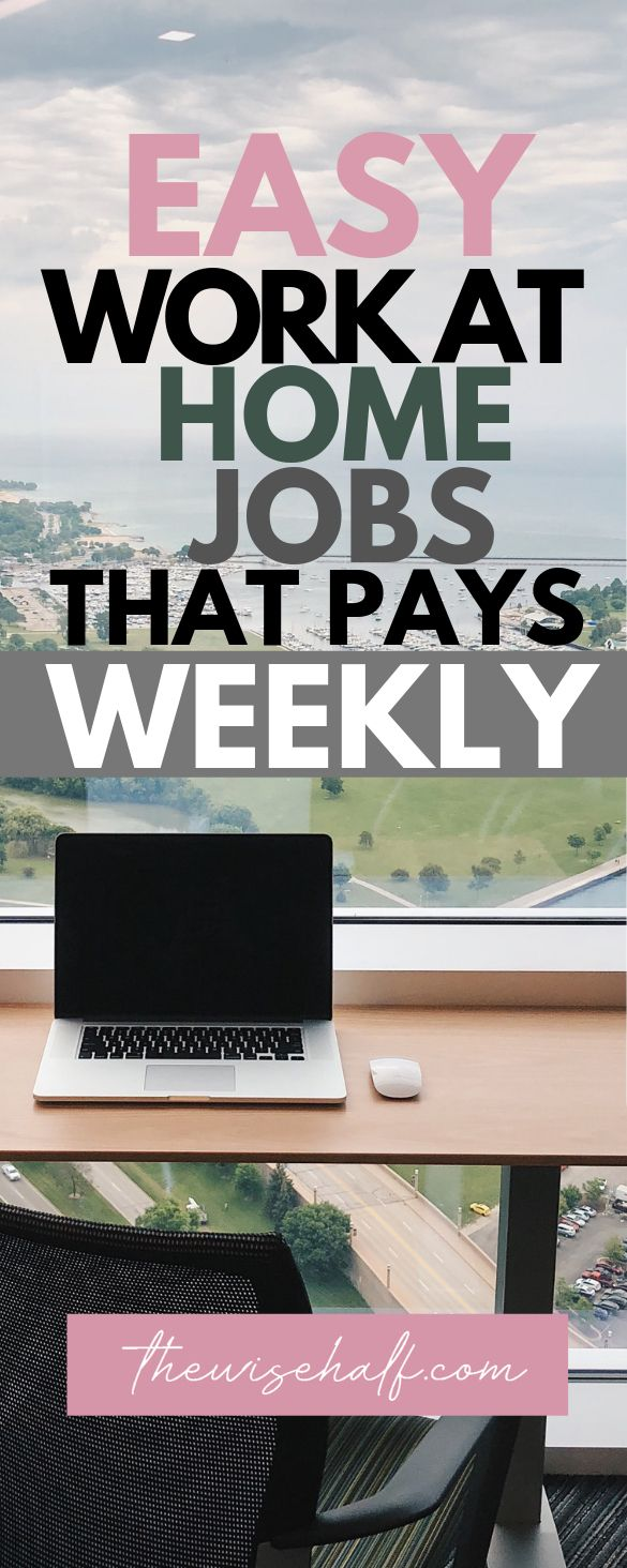 15 Online jobs that pay weekly. Legit websites and money-making apps. – Make money easy