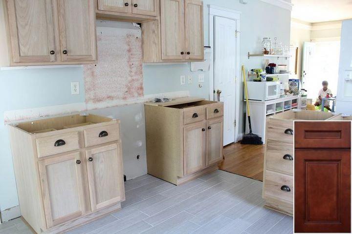 Pics Of Pickled Oak Finish Cabinets Oakkitchencabinets Homeideas Unfinished Kitchen Cabinets Custom Kitchen Cabinets Kitchen Renovation