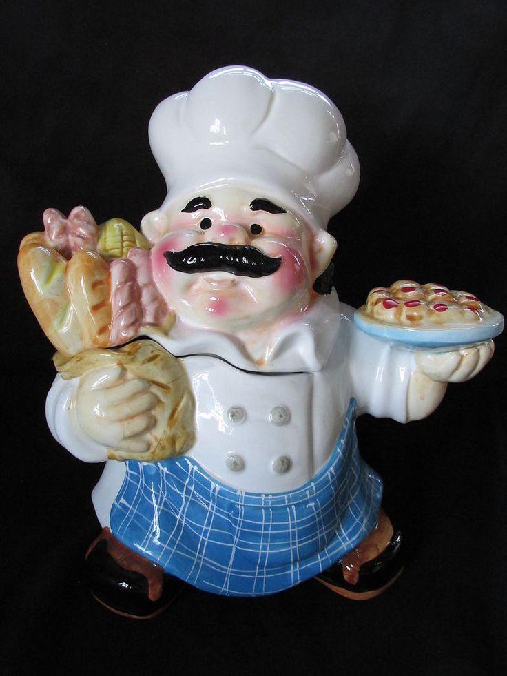 Chubby chef cookie jar plate