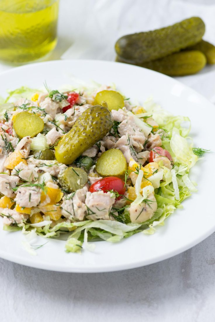 Dill Pickle Chopped Chicken Salad