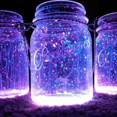 Glowstick contents, meet mason jar | 13 DIY Lanterns to Illuminate Your Porch, Patio, or Garden