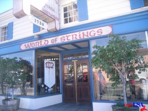 """World of Strings"" -   1738 E 7th st., LONG BEACH, CA    90813"