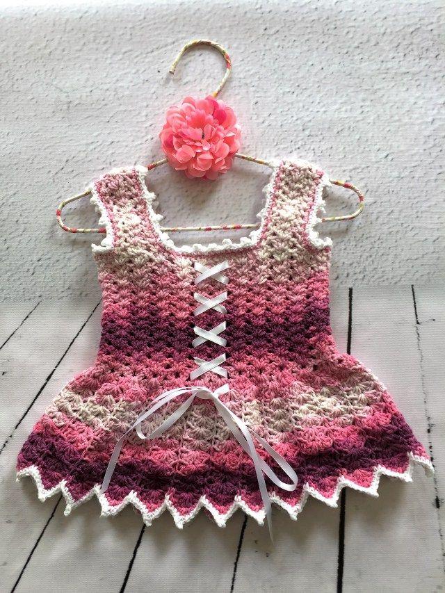 Virkad tunika, topp, klänning by DesignAnita