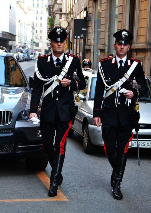 viamodabyguillermoquintero: Italian Carabinieri at Via Montenapoleone Milan, Italy 2013.