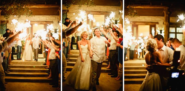 How can anyone not love sparkler exits?! This is one of the best wedding exit pictures we have seen! Purchase yours today! #weddingsendoff #sparklerexit #weddingsparklers #weddingexitideas #sparklers #brideandgroom #weddingpictures #weddingexitproducts