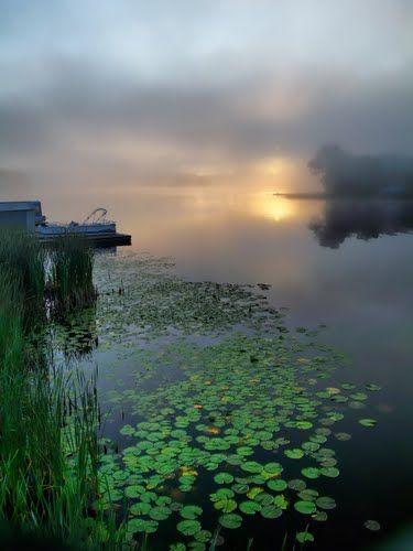 Sun Rising at Ranger Bay, French River, Ontario, Canada