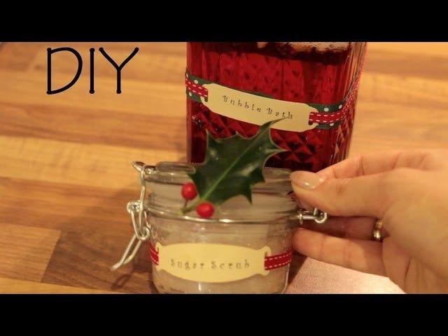 Pomysły na prezenty świąteczne - Peeling cukrowy i płyn do kąpieli - Modowe DIY