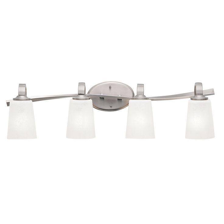 Best Kichler 4 Light 30 In Brushed Nickel Cylinder Vanity Light 400 x 300
