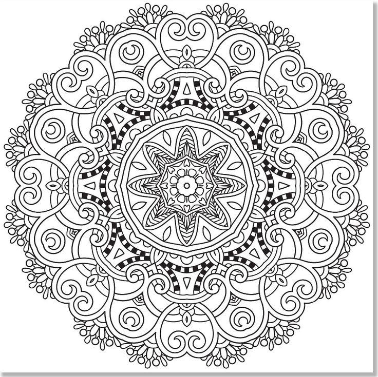 Mandala Designs Coloring Book Stress Relieving Studio English Art Adult Books