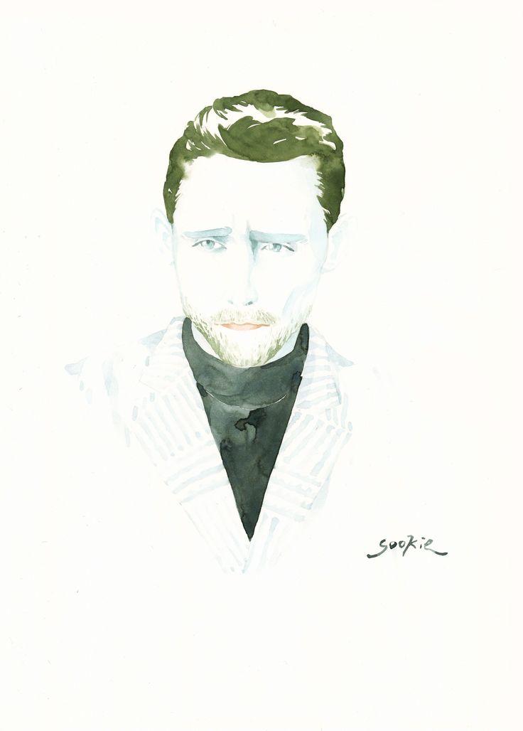 Tom Hiddleston illustration by Sookie Shen