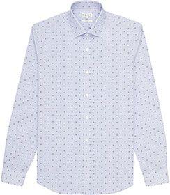 Mens Blue Polka Dot Shirt - Reiss Marylebone