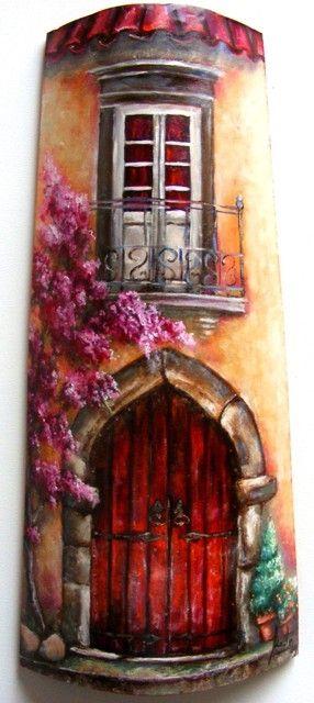 Teja GRANDE pintada nº8