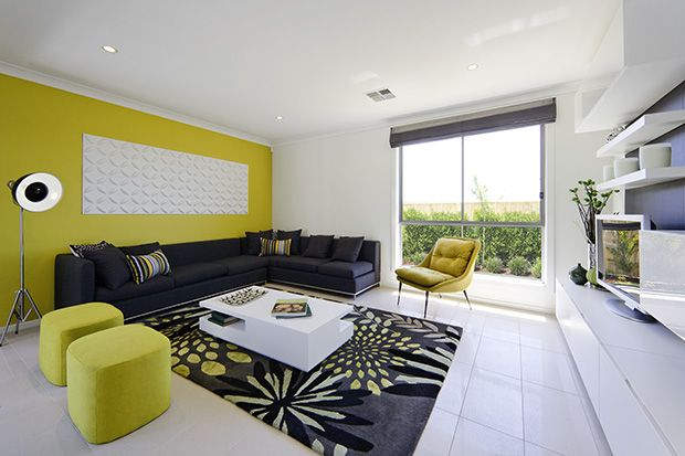 A bright accent wall to bring to life your modern interior living area.
