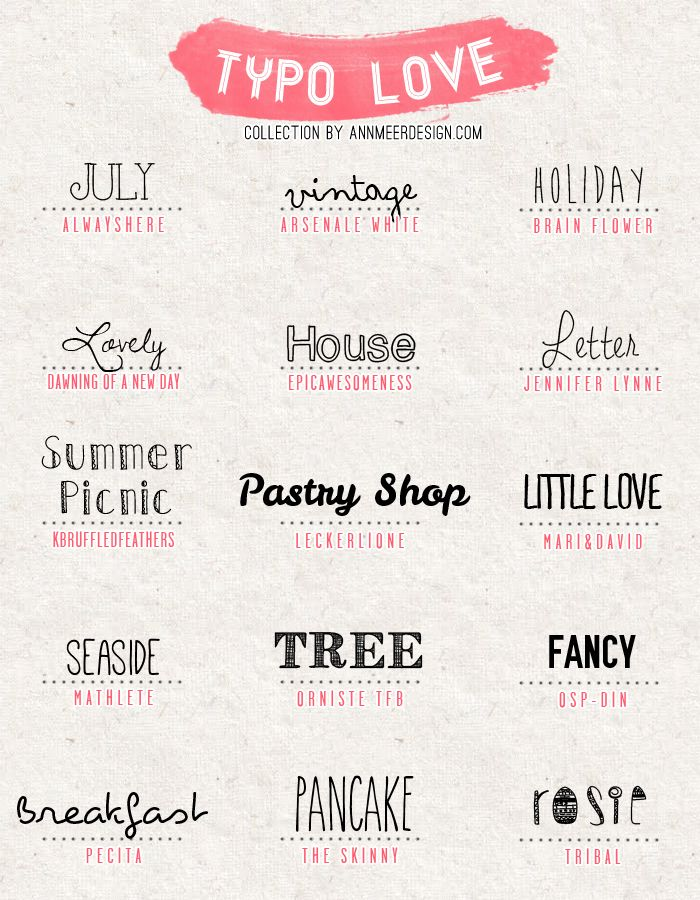 Ann.Meer by Anna-Maria Dahms: Lovely Fonts #4