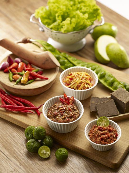 Aneka sambal - Terasi, Mangga, Cobek