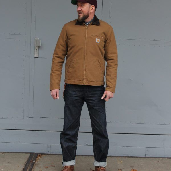 Carhartt Detroit jacket, Hamilton Brown | Black & Blue