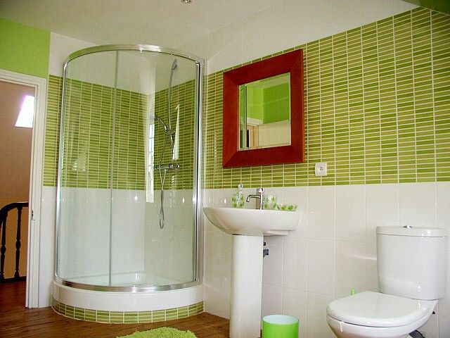 38 best sdb rdc images on Pinterest Bathroom, Bathrooms and Half - ideen für badezimmer fliesen