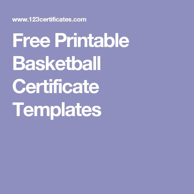 Free Printable Basketball Certificate Templates