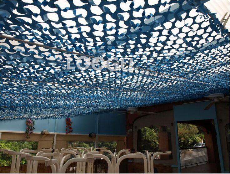 3M*3M filet camouflage netting roof netting gazebo netting pergolas netting blue camo Netting for balcony tent  sunshade awning