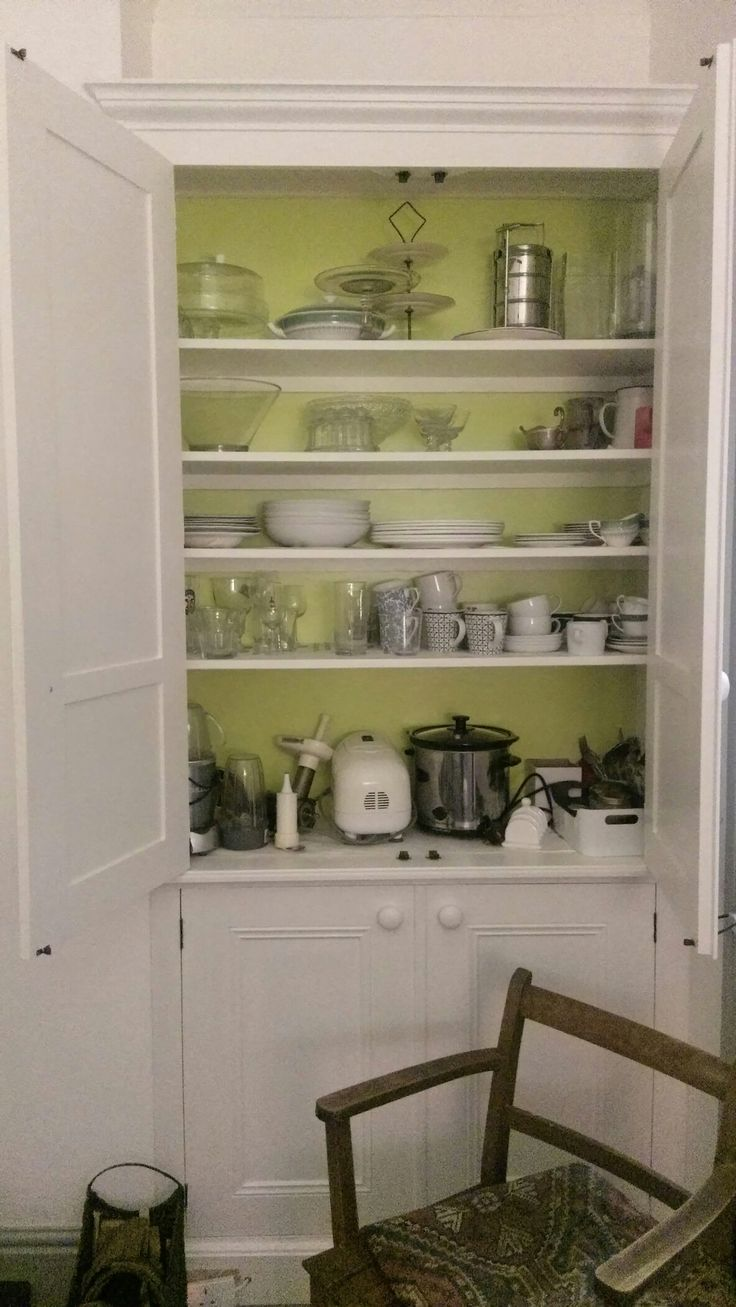 finished dining room cupboard