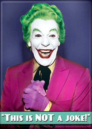 Batman #1960's tv series cesar #romero as the joker photo #refrigerator magnet…